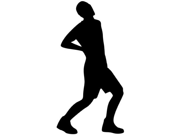 icone silhouette dos détouré